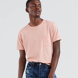 New men's Levi's cotton and cashmere pocket shirt